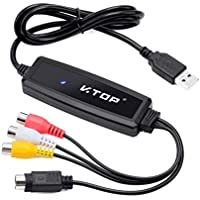 V.TOP RCA Composite / S-Video to USB Audio Video Capture Card Device for Android Mobile Tablet (VHS to DVD Maker,AVC03M.app Download on GooglePlay)