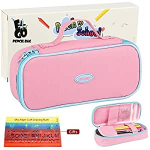 Amazon.com: Lápiz caso – Gran capacidad pen pouch Pink Color ...