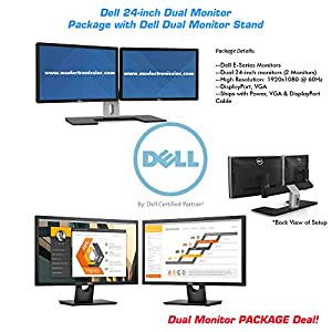 Dell E-Series Dual 24-inch LED Full HD Widescreen Monitor Bundle with MDS-14 Stand