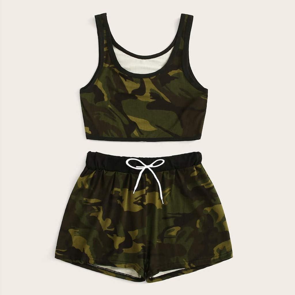 Summer Women New Tie Dye Print Backless Vest Skirt Set Casual Bodycon Dress 2pcs