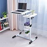 Laptop Desk Rotate Move Multifunction Table Adjustable Height Modern Simplicity Floor Desk ( Color : 10# )