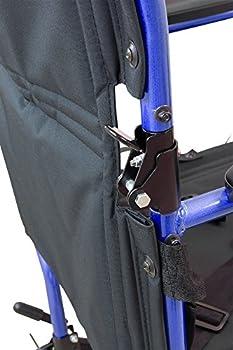Roscoe Medical Kta1916sa-bl Aluminum Transport Wheelchair, Blue 5
