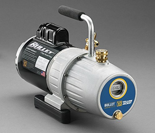 YELLOW JACKET 93603 Bullet Single Phase Vacuum Pump, 3 Cfm, 115V, 60 Hz Yellow Jacket Pump