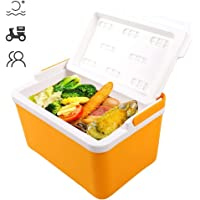 Box, 12L Outdoor Portable Food Thermal Ice Cooler Preservation Box Freeze Fresher Case Chest Food Delivery Box for Picnic, Camping, BBQ(Yellow)