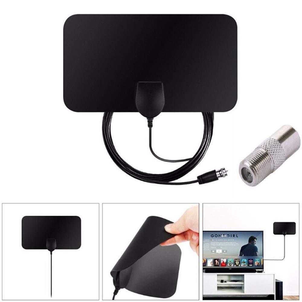 Friday Black, TV Antenna HDTV Flat HD'Digital Indoor Amplified 50-Mile Range TV Fox ALUS