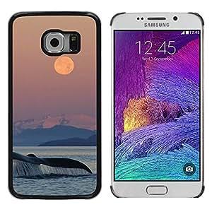 TopCaseStore / la caja del caucho duro de la cubierta de protección de la piel - Nature Sea Ocean Nature - Samsung Galaxy S6 EDGE SM-G925