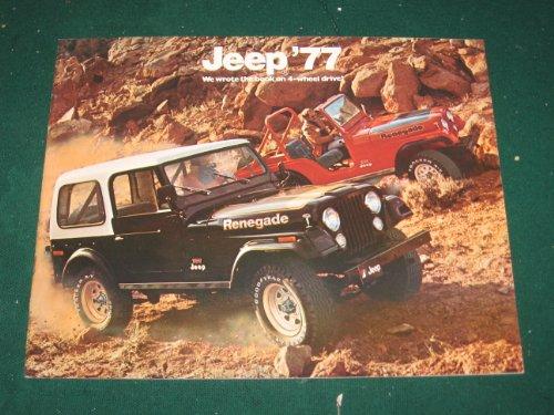 1977 Jeep Full Line Dealer Sales Brochure; CJ5; CJ7; Cherokee; Pickup; Wagoneer