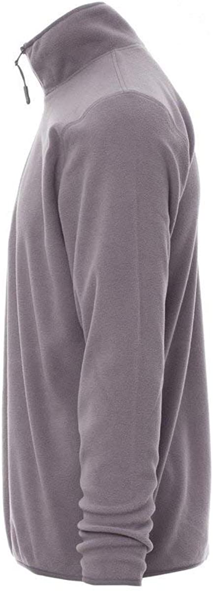 PAYPER Soft Felpa Micropile Unisex Uomo Donna 100/% Poliestere Chiusura Mezza Zip Cucitura Spalla Giro Manica Steel Grey