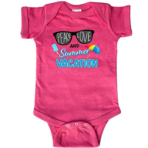 inktastic - Sunglasses Peace Infant Creeper 18 Months Retro Heather Pink - Sunglasses 4105 Color