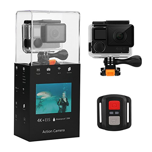 "Eloam Sports Action Camera 4K Wi-Fi Waterproof 2"" LCD 170 Degree Wide Angle Camera Best Gift Camera for Kids, Teenagers, Men and Women(Black) Eloam"