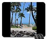 Mouse Pads - Waikiki Beach Hawaii Holiday Honolulu Ocean Sea