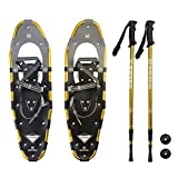 #4: Winterial Highland Snowshoes, Recreational Snow Shoes / Adult / Backcountry / Rolling Terrain Snowshoes / POLES INCLUDED!