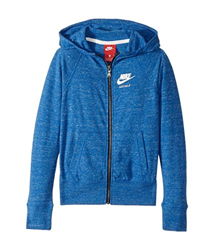 - NIKE Just Do It Marled Nep Raglan Zip-Up Hoodie,Girls 7-16 (Medium (10-12))