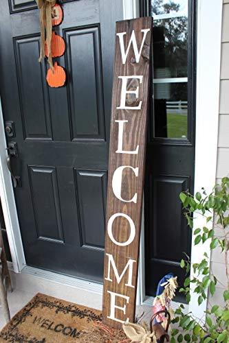 SmithFarmCo Wooden Welcome Sign for Home Front Porch Sign/Fr