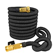 Amazon #LightningDeal 65% claimed: 75' Expanding Hose, Strongest Expandable Garden Hose on the Planet. Solid Brass Ends, Double Latex Core, Extra Strength Fabric