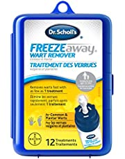 Dr. Scholl's FreezeAway Wart Remover, 12 Applications // Doctor-Proven Therapy, for Common and Plantar Warts