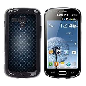 KOKO CASE / Samsung Galaxy S Duos S7562 / juego de fondo de pantalla el símbolo del corazón de la corona del ratón / Delgado Negro Plástico caso cubierta Shell Armor Funda Case Cover