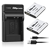 OAproda LI-50B Battery (2 Pack) & Micro USB Charger Compatible with Olympus SZ-15