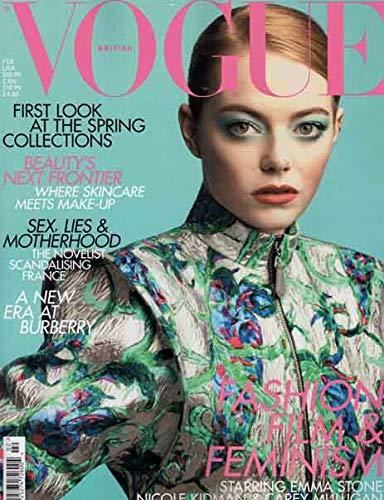 Vogue UK ( British Vogue ) Magazine February 2019 Issue + Magazine Cafe Bookmark