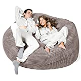 LOUNGE PUG – MEGA MAMMOTH Beanbag MINK Cord – MASSIVE XXL size - ideal for Bedrooms, home and gaming