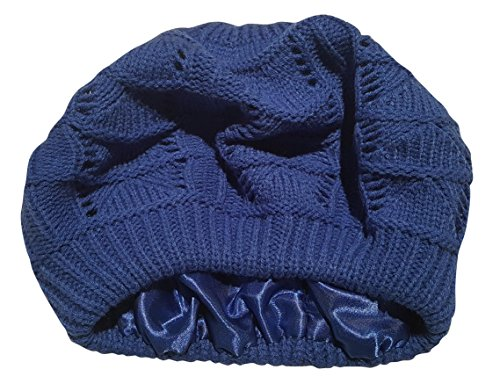 Always Eleven Satin Lined Knit Beret Hat (Crocheted Womens Beret)