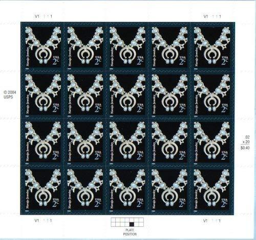 Single Navajo - USA Postage Stamp Single 2003 Navajo Necklace Self Adhesive Issue 2 Cent Scott #3750