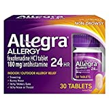 Allegra 24 Hour Allergy Tablets 30 Tablets (Pack of 2)