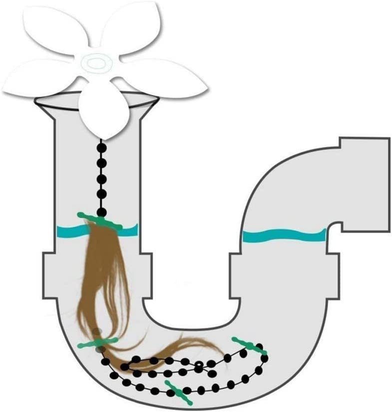Cuisine Mockstable Filtre /à Cheveux en Forme de Fleur pour Salle de Bain Lot de 5