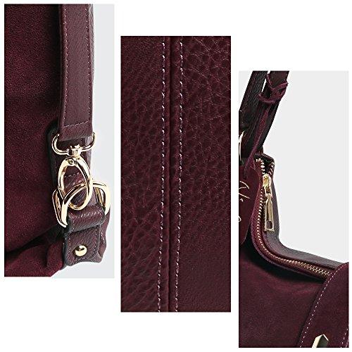 Leather Suede jlwYvv4xv9e Genuine Shoulder Nico Tassel Deep Casual Purse Blue Bag Handbag Backpack Women Leisure dtFqqwI