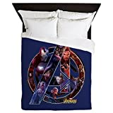 CafePress Avengers Infinity War Symbol - Queen Duvet Cover, Printed Comforter Cover, Unique Bedding, Microfiber