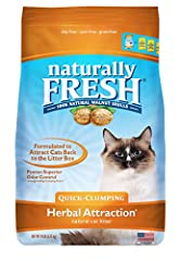 Made from walnut shells, Naturally Fresh natural kitty litter offers pet parents incredible odor control and long-lasting absorbency, with its super clump cat litter. Naturally Fresh clumping cat litter is virtually dust-free, easy clean and ...