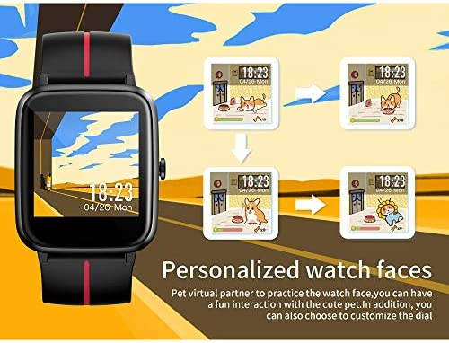 Smart Watch Men Women, GPS Fitness Tracker Heart Rate Sleep Monitor 14 Exercise Modes Fitness Watch, DIY Watch Dial 5ATM Waterproof Calorie Activity Tracker Smart look ahead to Android telephones iOS