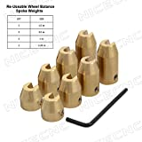 NICECNC 8 Pack Motorcycle Reusable Brass Wheel Spoke Balance Weights Refill Kits for Super Moto Dual sport metric cruisers vintage