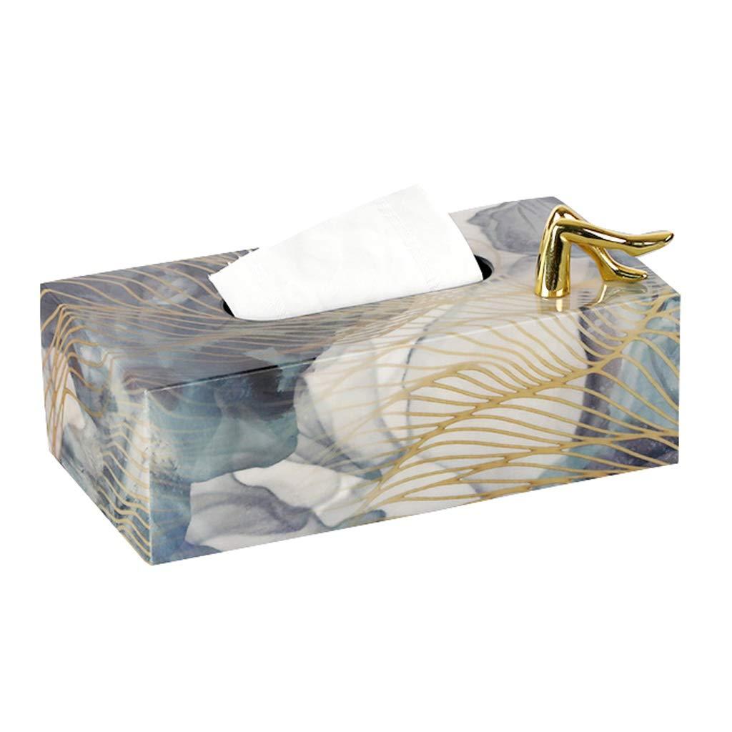 UCYG Wooden Retro Tissue Box Holder Tissue Box Cover Case Napkin Dispenser - Decorative Organizer for Bathroom, Bedroom, Living Room, Desk (Size : Style 3) by UCYG