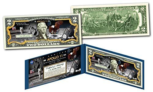 Mint Landing - APOLLO 11 NASA Moon Landing 50th ANNIVERSARY Genuine Legal Tender $2 U.S. Bill