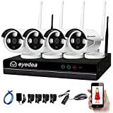 Eyedea 4 CH WiFi 5500TVL 1080P 2.0MP NVR Wireless Camera Video Surveillance DVR Easy Setup with IP N