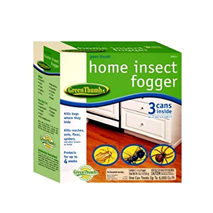 United Industries 122378 Green Thumb 3 Pack Indoor Bug Fogger, 2 Ounce