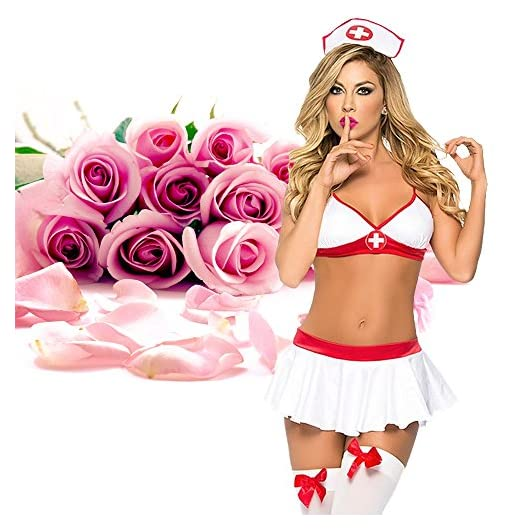 56f85e2d5 ADOGO Lingerie Nurse Sexy Costume Outfit Set Babydoll Bedroom Honeymoon  Cosplay ...