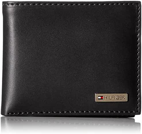 Tommy Hilfiger Leather Men's Multi-Card Passcase Bifold Wallet with Removable Card Holder