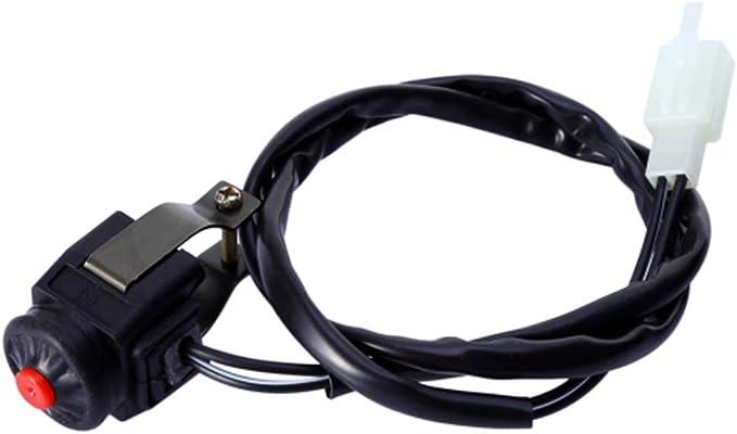 Cyclist Store Universal 7 8 Kill Switch Hupenknopf Stop 22mm Lenker Compatible For Motorrad Motorrad Motorrad Stop Horn Schalter Farbe Gelb Auto