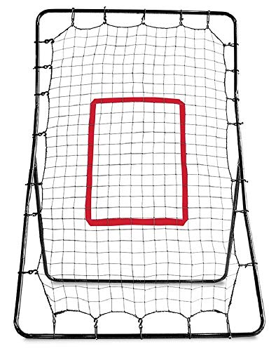 4 Way Youth Pitchers Rubber - SKLZ PitchBack Baseball and Softball Pitching Net and Rebounder