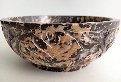 Soapstone Bowl (Soapstone Incense Burner Bowl/Smudge Pot/Wicca Ritual Offering Bowl 5