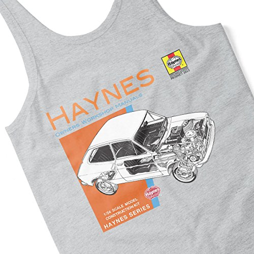 Haynes Owners Workshop Manual 0173 Fiat 127 Women's Vest Heather Grey