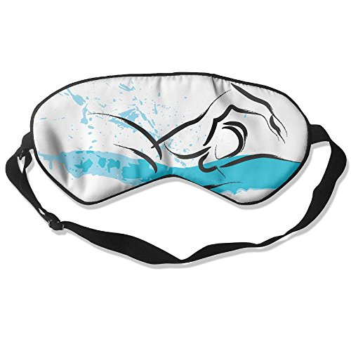 Sleep Mask Swimming Sport Eye Cover Blackout Eye Masks,Soothing Puffy Eyes,Dark Circles,Stress,Breathable Blindfold by MB32