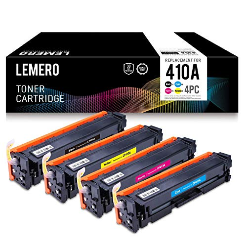 Lemero Compatible Toner Cartridge Replacement for HP CF410A (Black, Cyan, Yellow, Magenta, ()