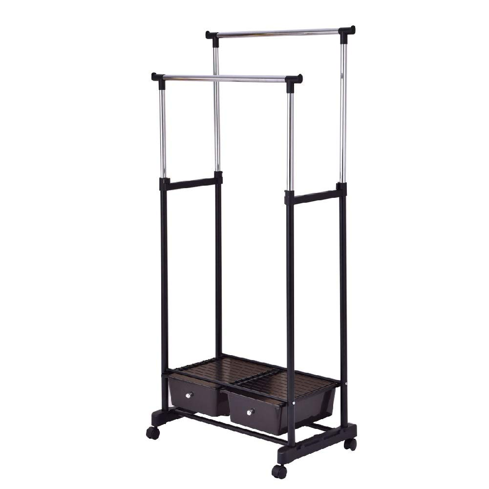 Drying Rack Towel Clothes Store Hanger Storage Stick Shelf Rolling Shelves Folding Drawers by Sgood (Image #3)