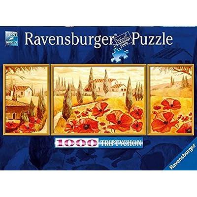 Ravensburger 199945 Trittico Papaveri Della Toscana 1000 Pezzi