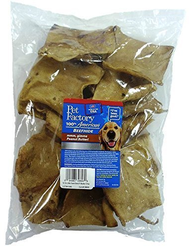Pet Factory Premium Made in USA Clear Coated Peanut Butter Flavored Chips – 12 oz