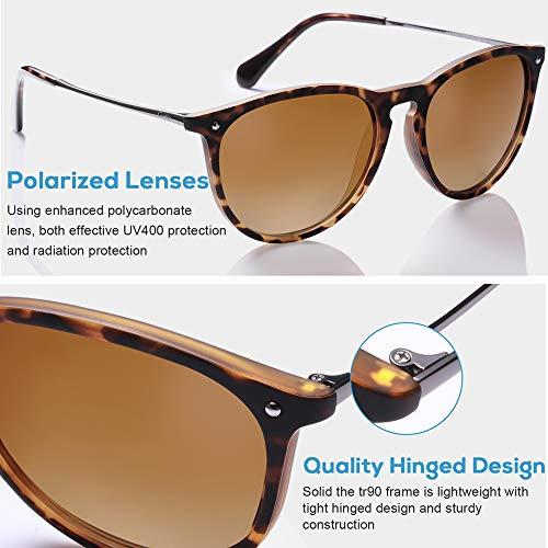 95ad811b32 Carfia Vintage Polarized Sunglasses for Women Men