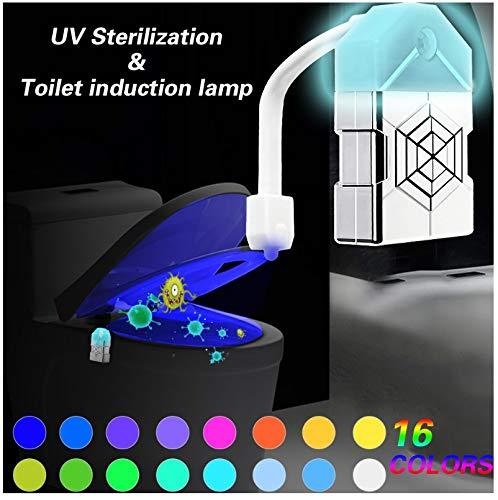 Amazon.com: Luz nocturna para inodoro, esterilización UV ...